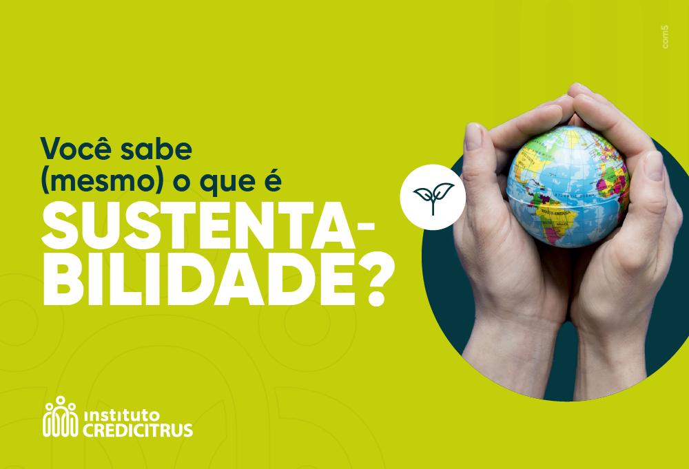 Você sabe mesmo o que é sustentabilidade?
